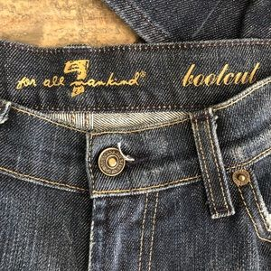 7 For All Mankind Jeans - For All Mankind Button Bling Bootcut Denim Jeans